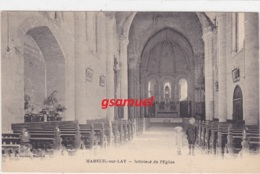 85 - Mareuil Sur Lay Intérieur De L'eglise (courrier Adressé Au Curé),     (Lapie)    (voir Scan) - Mareuil Sur Lay Dissais