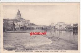 85 - Mareuil Sur Lay Le Barrage Du Moulin Vers L'eglise  (voir Scan) - Mareuil Sur Lay Dissais
