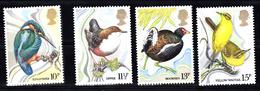 Groot-Brittannie 1980 Mi Nr 817 - 820: Vogels, Bird, Kingfisher, Dipper, Moorhen, Yellow Wagtail - 1952-.... (Elizabeth II)