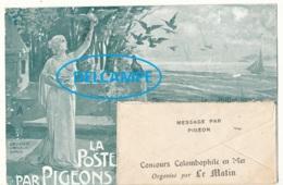 LA POSTE PAR PIGEONS    Concours Colombophile En Mer, Organisé Par Le Matin   Timbre 15c Perfosé N° 130 - Militaria