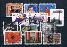 USA Kleines Lot 12 Werte Gestempelt - Collections