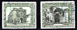 Guatemala 1972 Mi Nr 933 + 935,  Capucijnerklooster + Kathedraal - Guatemala