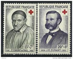 "FR YT 1187 & 1188 "" La Croix Rouge "" 1958 Neuf** - Unused Stamps"