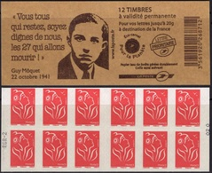 FRANCE Carnet 3744A-C9 ** MNH Non Plié Marianne De Lamouche Vendu Sous La Faciale 12,60 € Guy Môquet - Booklets