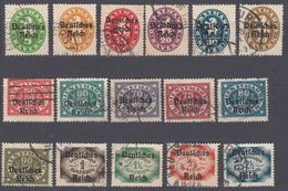 BAVIERA - BAYERN -  1920 - Lotto 16 Valori Obliterati, Yvert Servizio 61/76. - Bayern (Baviera)