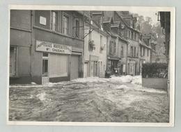 23 - Aubusson  - Photo Originale 17,5 / 13 Cm ; Octobre 1960 Inondation Rue Jules Sandeau - Tissus Chazaux Maison Natale - Aubusson