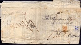 FRANCE- TOULON - S - MER  78  P.P.  Via  ANEPES Via DI  ...LA  To CURZOLA - 3. 12. 1843. - France