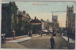 England - Dover, High Street - Farb-AK, Gelaufen 1908 An Einen Major Auf Dem - Non Classés