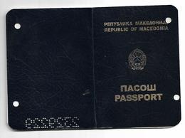 Passeport,passport, Pasaporte, Reisepass,Republic Of Macedonia Visa Turky Bulgaria Serbia - Documenti Storici