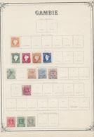 GAMBIE - Petite Collection Sur Feuille 1880 à 1906 - Avec Chanières - Voir Scanne - Gambie (...-1964)