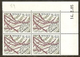 MONACO PREO N°89** Bloc Coin Daté De 4 Valeurs (14/2/1985) - COTE 11.00 € - Monaco