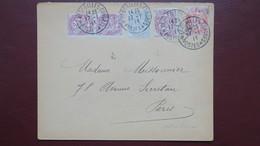 Type Blanc Affranchissement Tricolore Versailles Congres Election Poincaré 17 Janvier 1913 - Storia Postale