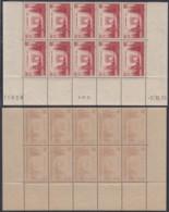 FRANCE Yv 403 BLOC DE 10 COIN DE FEUILLE NEUF DATE 05/10/1938 (AIX3170) DC-1733 - Frankreich