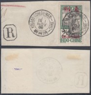 KOUANG-TCHEOU Yv 32 SUR FRAGMENT 01/11/1908 (6G) DC-1743 - Kouang-Tchéou (1906-1945)