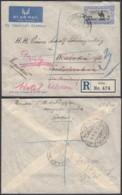 SOUDAN LETTRE PAR AVION RECOMMANDE DE JUBA 1936 VERS TCHECO (6G20580) DC-1758 - Soudan (1954-...)