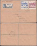 """JERSEY LETTRE 2 1/2 D+3 EN RECOMMANDE  1943 """"JERSEY CHANNEL ISLAND """" 1er JOUR (5G) DC-1764 - Jersey"""