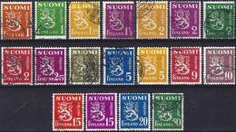 Finland 1930/52 - Coat Of Arms : Lion ( Lot De 18 Valeurs ) - Finlande
