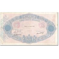 France, 500 Francs, 500 F 1888-1940 ''Bleu Et Rose'', 1928-03-14, TB+ - 1871-1952 Anciens Francs Circulés Au XXème