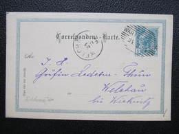 GANZSACHE Warta A.d.Eger - Welchau Straz Nad Ohri Adelskorrespondenz Ledebur-Thun 1904 Korrepospondenzkarte ///  D*36220 - 1850-1918 Empire