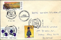 AANT-162 ARGENTINA ANTARCTICA 1992 GRAL BELGRANO II STATION FAUNA  COVER - Bases Antarctiques