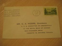 MEXICO Missouri 1951 To Toronto Canada Stamp Cancel Cover USA - Mexique
