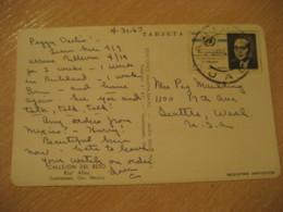 GUANAJUATO 1967 To Seattle USA Stamp Cancel Air Mail Callejon Del Beso Kiss Alley Post Card MEXICO Mejico - Mexico
