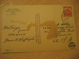 YUCATAN 1939 To California USA Stamp Cancel Mestiza Post Card MEXICO Mejico - Mexico