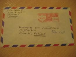 PEREIRA 1967 To Utrecht Netherlands Cancel Meter Air Mail Cover MEXICO Mejico - Mexico