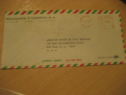 MONTERREY 1969 To New York USA Cancel Meter Air Mail Cover MEXICO Mejico - Mexico
