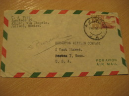 JALISCO 1962 ? To Boston USA Stamp Cancel Air Mail Cover MEXICO Mejico - Mexico