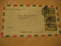 MEXICO D.F. ? 1946 To Zurich Switzerland 3 Stamp Cancel Air Mail Cover MEXICO Mejico - Mexico