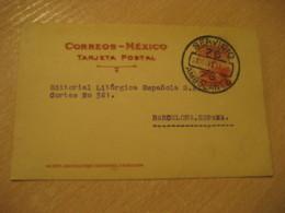 GUADALAJARA Servicio Ambulante 1929 To Barcelona Spain Cancel Postal Stationery Card MEXICO Mejico - Mexiko