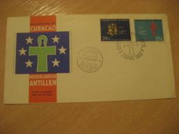 Netherlands Antilles Curaçao Willemstad 1963 Congress FDC Cancel Cover West Indies - Antilles