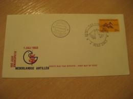 Netherlands Antilles Curaçao Willemstad 1963 Centenary FDC Cancel Cover West Indies - Antilles