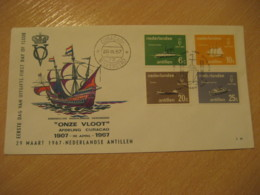 Netherlands Antilles Curaçao Willemstad 1967 Our Fleet FDC Cancel Cover West Indies - Antilles