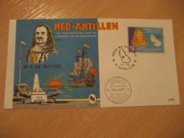 Netherlands Antilles Curaçao Willemstad 1966 M. A. De RUYTER FDC Cancel Cover West Indies - Antilles