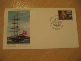 Netherlands Antilles Curaçao 1976 American Bicentennial USA St. Eustatius FDC Cancel Cover West Indies - Antilles