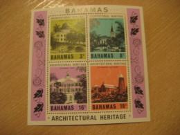 BAHAMAS Yvert Bloc 23 ** Unhinged Architecture Church Library Hermitage Cat Island West Indies British Area - Bahamas (1973-...)