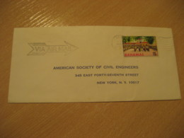 BAHAMAS Nassau 1963 To New York USA Stamp Cancel Air Mail Cover West Indies British Area - Bahamas (1973-...)