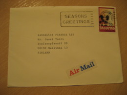 BAHAMAS Nassau 1983 To Helsinki Finland Christmas Stamp Cancel Air Mail Cover West Indies British Area - Bahamas (1973-...)