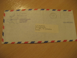 BAHAMAS Nassau 1981 To Linkoping Sweden Cancel Air Mail Capital Offshore Ltd Postage Paid Cover West Indies British Area - Bahamas (1973-...)