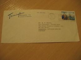HAMILTON 1977 To Toronto Canada Fishing Stamp Cancel Air Mail Cover BERMUDA British Area - Bermudes