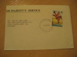 HAMILTON 1985 To Dusseldorf Germany 1988 Olympic Games Seoul Olympics Equestrian Stamp Cancel Cover BERMUDA British Area - Bermudes