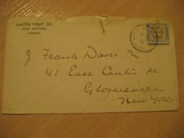 PORT ANTONIO 1905 To New York USA Philadelphia Cancel Stamp Cancel Cover JAMAICA British Colonies West Indies - Jamaique (1962-...)