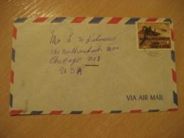 FRANKLIN TOWN 1970 To Chicago USA Stadium Athletics Stamp Cancel Air Mail Cover JAMAICA British Area West Indies - Jamaique (1962-...)