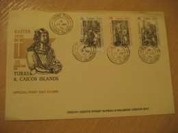 GRAND TURK 1970 Durer Easter Passion Week FDC Cancel Cover TURKS AND CAICOS Islands West Indies British Area Lucayan - Turks & Caicos (I. Turques Et Caïques)