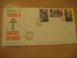 GRAND TURK 1972 Rembrandt Easter Passion Week FDC Cancel Cover TURKS AND CAICOS Islands West Indies British Area Lucayan - Turks & Caicos (I. Turques Et Caïques)