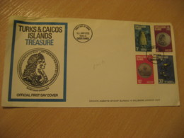 1973 Pirate Pirates Treasure FDC Cancel Cover TURKS AND CAICOS Islands West Indies British Area Lucayan - Turks & Caicos (I. Turques Et Caïques)