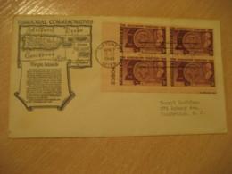 NATCHEZ 1948 To Woodbridge FDC Cancel VIRGIN ISLANDS Cover USA West Indies British Area Puerto Rico - Antilles