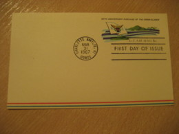 CHARLOTTE AMALIE 1967 Purchase VIRGIN ISLANDS USA FDC Air Postal Stationery Card West Indies British Area Puerto Rico - Antilles